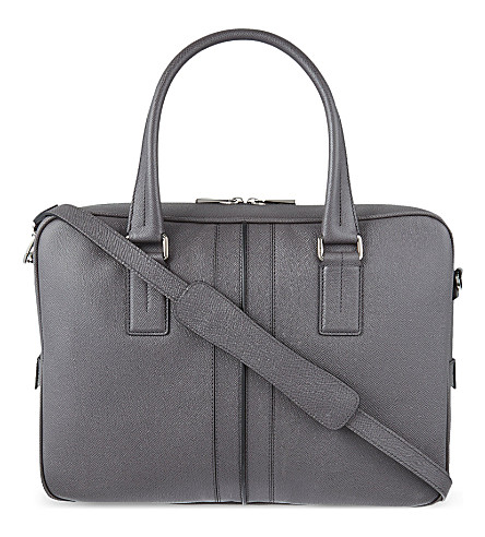 TODS Leather briefcase (Grey