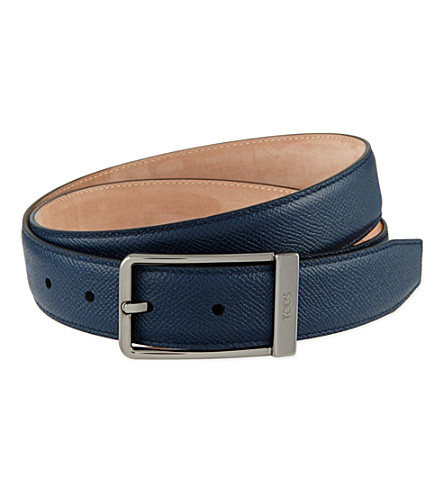 TODS Classic leather belt (Navy