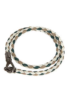 TODS Tri-colour plaited bracelet