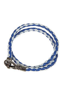 TODS Bi-colour plaited bracelet