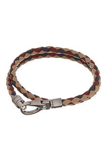 TODS Tricolour plaited leather bracelet