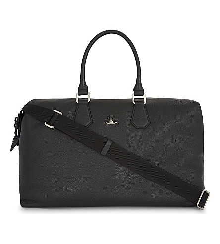 VIVIENNE WESTWOOD Milano grained leather weekend holdall (Black