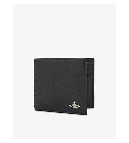 VIVIENNE WESTWOOD Milano grained leather billfold wallet (Black