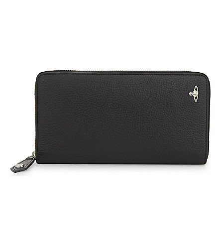 VIVIENNE WESTWOOD Milano leather wallet (Black
