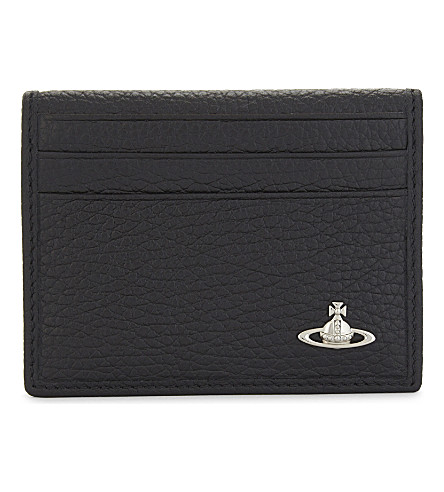 VIVIENNE WESTWOOD Milano small horizontal fold leather card holder (Black