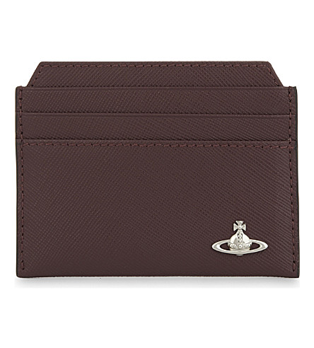VIVIENNE WESTWOOD Kent leather billfold wallet (Bordeaux