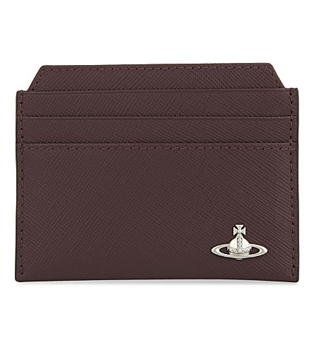 VIVIENNE WESTWOOD Kent leather card holder (Bordeaux