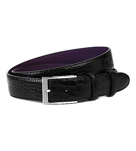 ELLIOT RHODES Bogart smart leather belt (Black