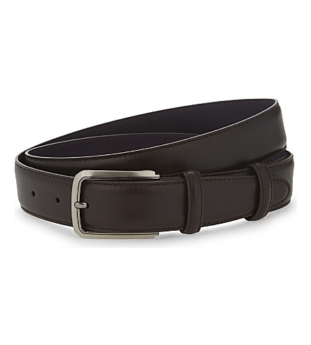 ELLIOT RHODES Top nappa leather belt (Brown