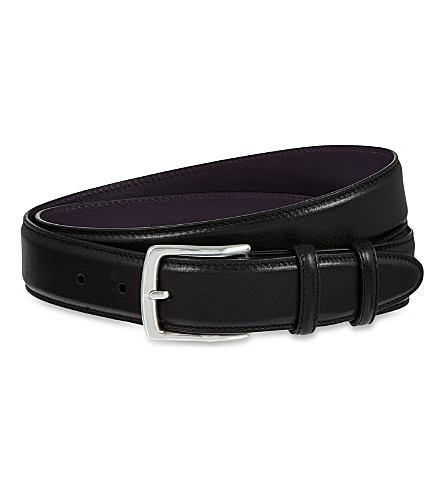 ELLIOT RHODES Nappa leather belt (Black