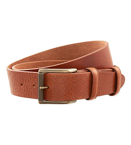 ELLIOT RHODES Missouri casual leather belt (Chestnut