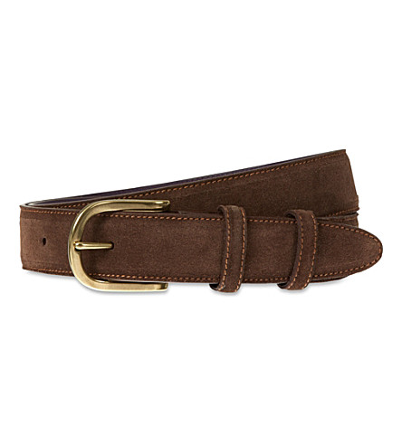 ELLIOT RHODES English suede belt (T moro