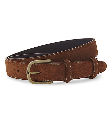 ELLIOT RHODES Suede belt (Tan