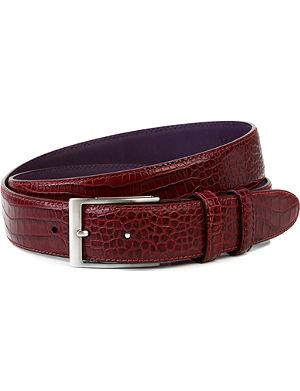 ELLIOT RHODES Bogart smart leather belt