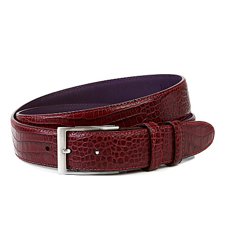 ELLIOT RHODES Bogart smart leather belt (Burgundy