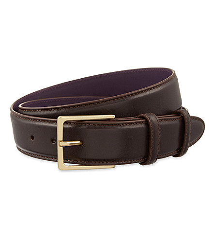 ELLIOT RHODES Nappa leather belt (Marron