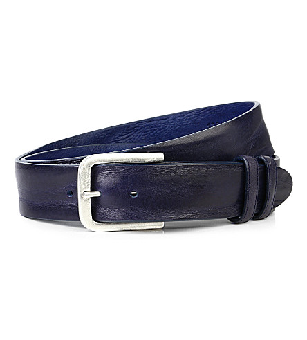 ELLIOT RHODES Casual leather belt (Midnight