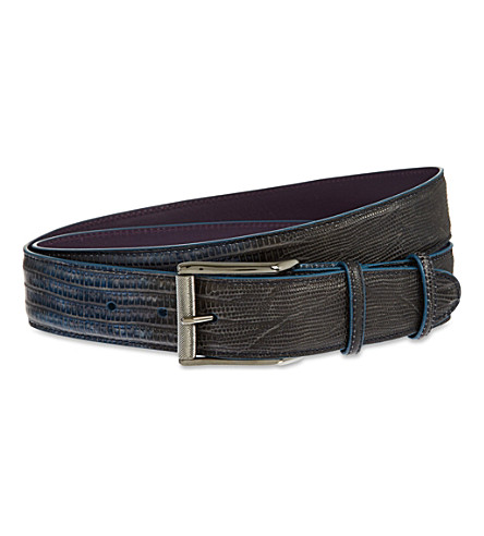 ELLIOT RHODES Degrade leather belt (Ink