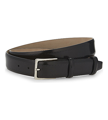 ELLIOT RHODES Pacino smooth leather belt (Black