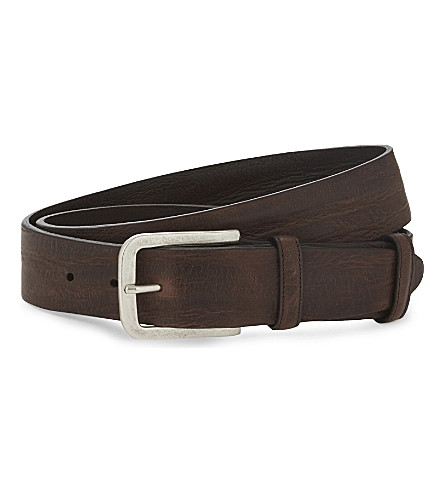 ELLIOT RHODES Casual leather belt (Brown