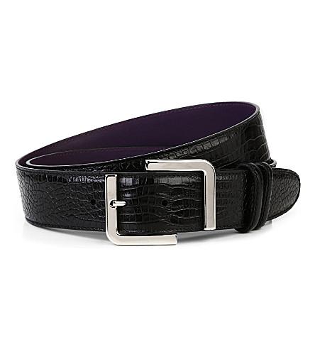 ELLIOT RHODES Cocco caribe belt (Black