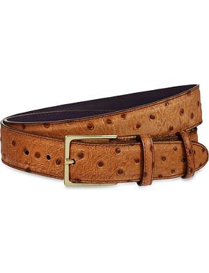 ELLIOT RHODES Struzzo wax belt