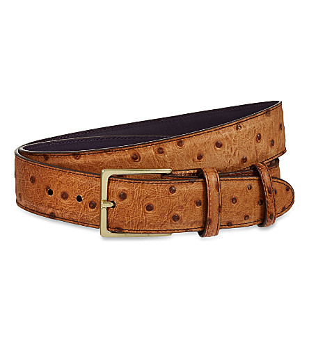 ELLIOT RHODES Struzzo wax belt (Fudge
