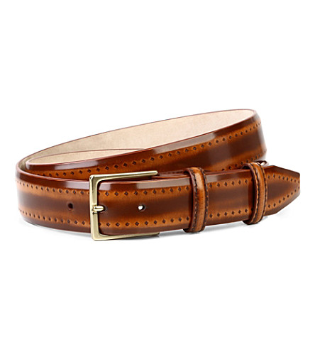 ELLIOT RHODES Pacino leather belt (Tan