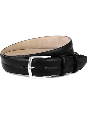 ELLIOT RHODES Peck saffiano leather belt