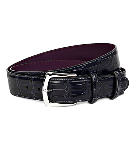 ELLIOT RHODES Coda farkhan leather belt (Navy