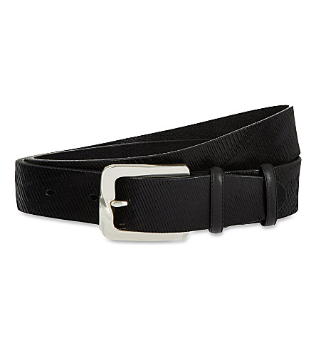 ELLIOT RHODES Cracked leather belt (Black