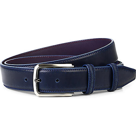 ELLIOT RHODES Pacino leather belt (Navy