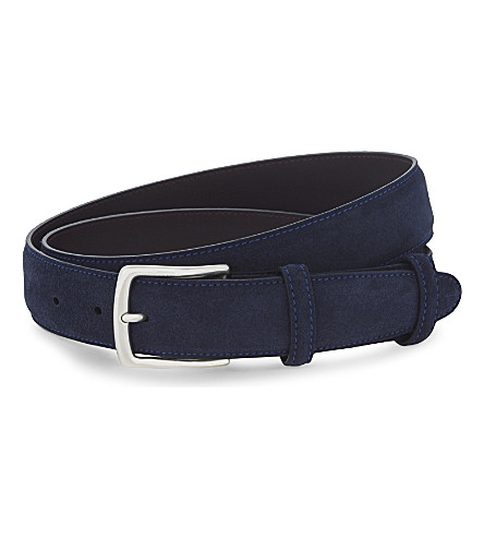 ELLIOT RHODES Suede belt (Navy