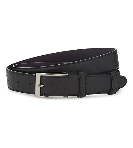 ELLIOT RHODES Struzzo leather belt (Black