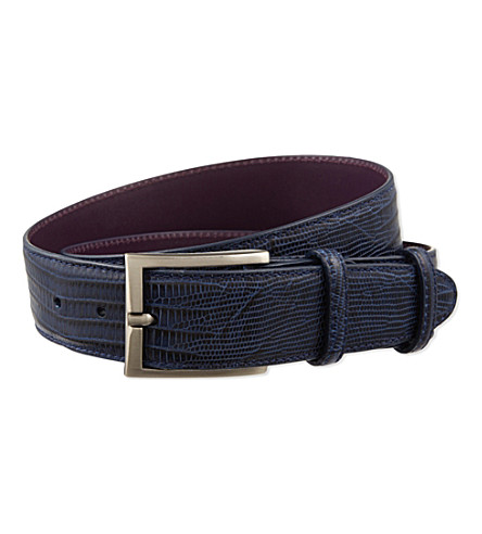 ELLIOT RHODES Leather belt (Twilight
