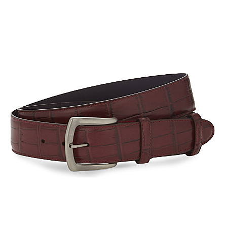 ELLIOT RHODES Coda Farkhan leather belt (Burgundy