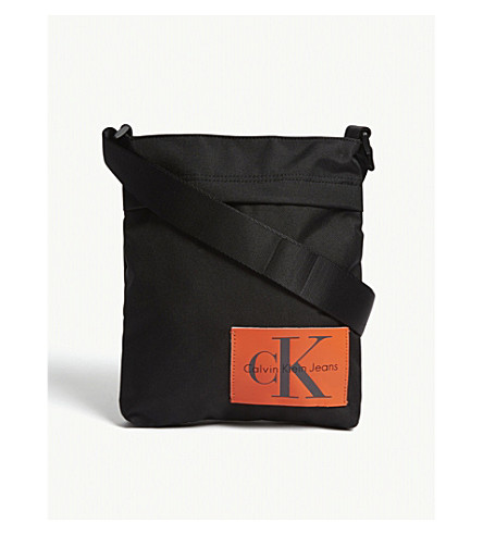 CALVIN KLEIN Sport Essential flat cross-body bag (Black