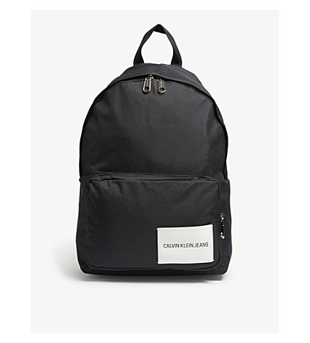 CALVIN KLEIN Logo patch backpack (Black