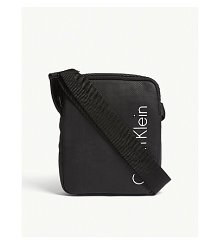 CALVIN KLEIN Quad Stitch mini cross-body bag (Black