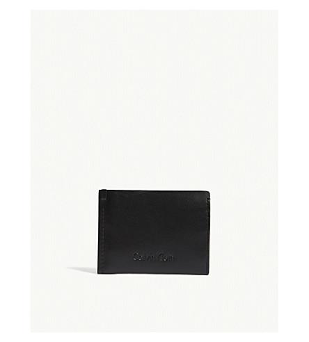 CALVIN KLEIN Prime leather card holder (Black