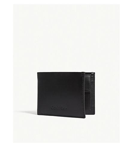 CALVIN KLEIN Prime leather billfold wallet (Black