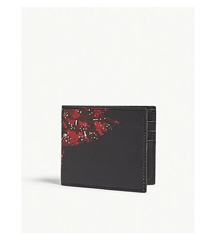 MARCELO BURLON Red wing wallet (Black+red