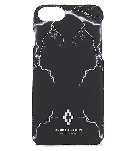 MARCELO BURLON Telgo lightning bolts iPhone 7 case (Black+multi