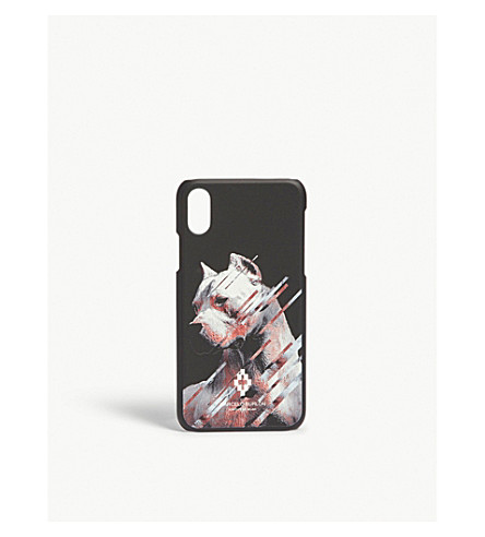MARCELO BURLON Dog print iPhone 8 Case (Black+multi
