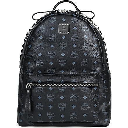 MCM Studded leather backpack (Black
