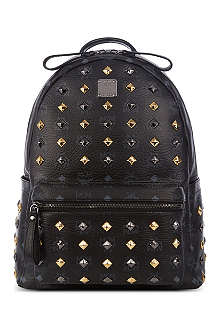 MCM Stark studded leather medium backpack
