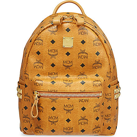 MCM Stark classic small backpack (Cognac