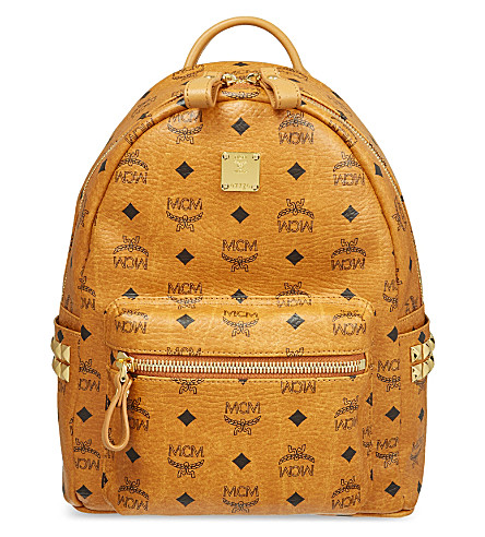 MCM Stark classic small backpack (Cognac