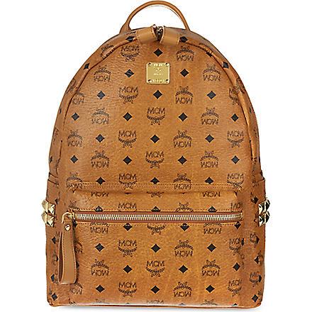 MCM Side studded backpack (Cognac