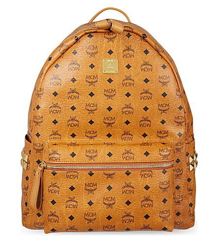 MCM Large Stark classic backpack (Cognac